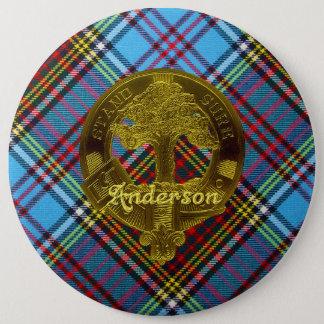 Anderson Tartan (Diagonal) & Motif Button