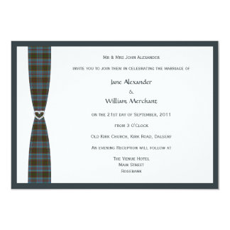 Anderson Tartan Plaid and Faux Diamond Heart Card