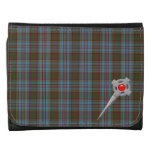 Anderson Tartan Plaid  Pattern with Celtic Pin Wallets