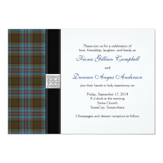 Anderson Tartan Wedding Invitation