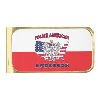 Anderson Texas Polish American Gold Finish Money Clip