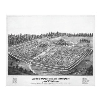 Andersonville Prison by John L Ransom Canvas Print