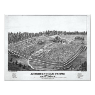 "Andersonville Prison by John L Ransom 4.25"" X 5.5"" Invitation Card"