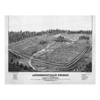 Andersonville Prison by John L Ransom Postcard
