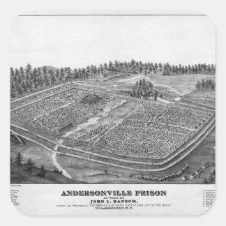 Andersonville Prison by John L Ransom Square Sticker