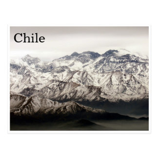 andes chile postcard