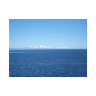 """""""Andes in  the Distance"""" A View from Lake Titicaca Canvas Print"""