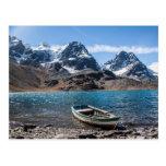 Andes Mountain Climbing Ice Peak - Bolivia Trek Postcard