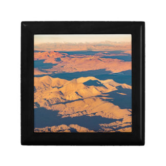 Andes Mountains Aerial Landscape Scene Keepsake Box
