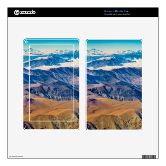 Andes Mountains Aerial View, Chile Kindle Fire Skin