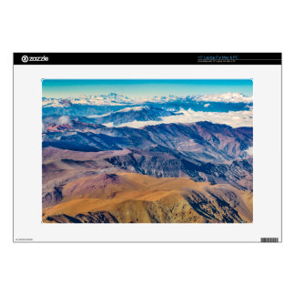 Andes Mountains Aerial View, Chile Laptop Decals