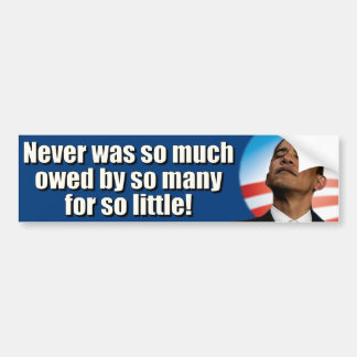 Andi Obama Spending and Debt Bumper Sticker