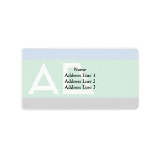 Andijk, Nepal flag Address Label