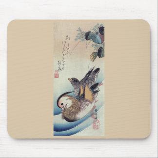 Ando Hiroshige Mandarin Ducks Color Woodcut Mouse Pad