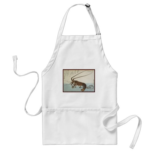Ando Hiroshige Sheet Lobster and Shrimps Adult Apron