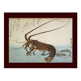 Ando Hiroshige Sheet Lobster and Shrimps Postcards