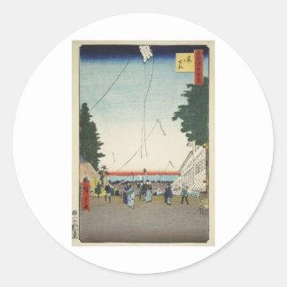 Ando Hiroshige Sheet The Kasuma-ga seki Outpost Sticker