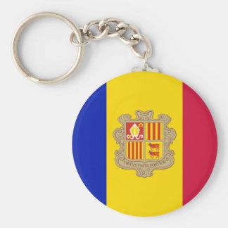 Andorra AD Basic Round Button Keychain