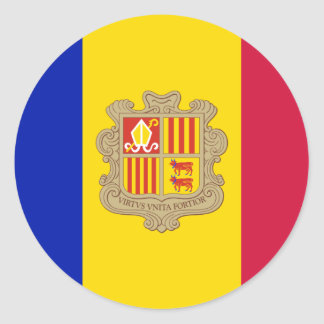 Andorra AD Classic Round Sticker