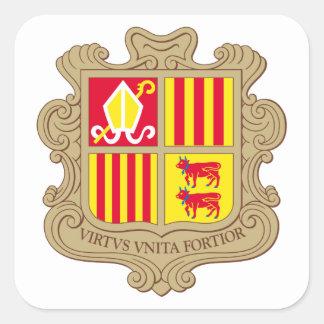 andorra arms square sticker