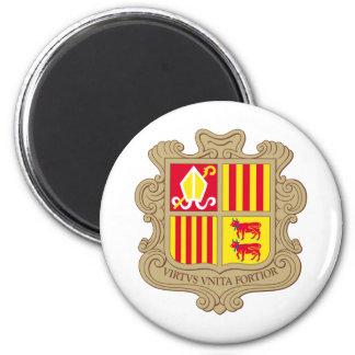 Andorra Coat of arm AD 2 Inch Round Magnet