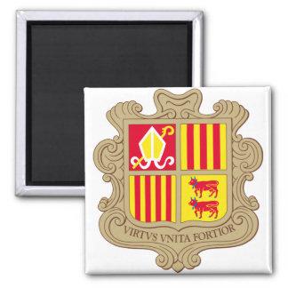 Andorra Coat of arm AD 2 Inch Square Magnet