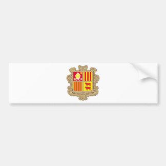 Andorra Coat of arm AD Bumper Sticker