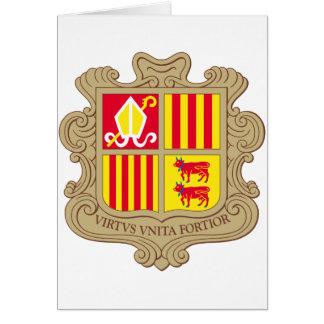 Andorra Coat of arm AD Card