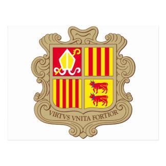 Andorra Coat of arm AD Postcard
