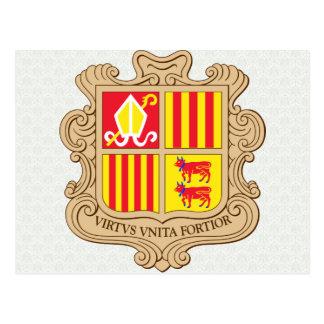 Andorra Coat of Arms detail Postcard