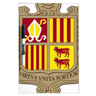 Andorra Coat of Arms Dry-Erase Board