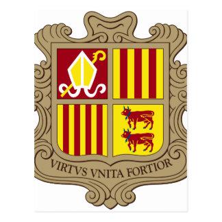 Andorra Coat of Arms Postcard