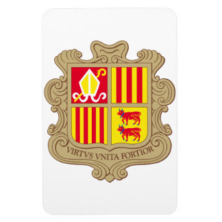 Andorra Coat Of Arms Rectangle Magnet