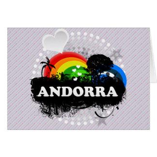 Andorra con sabor a fruta linda tarjetón