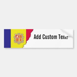 Andorra Flag Bumper Sticker