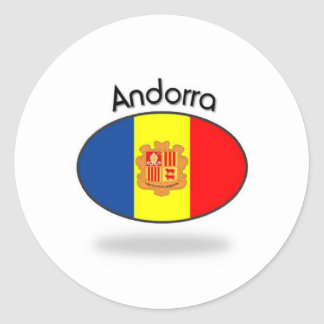 Andorra Flag Classic Round Sticker