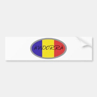 Andorra flag design! bumper sticker
