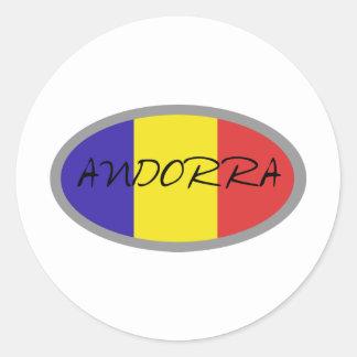 Andorra flag design! classic round sticker
