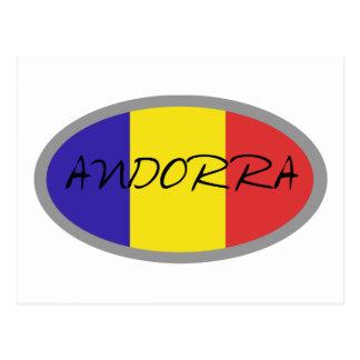 Andorra flag design! postcard