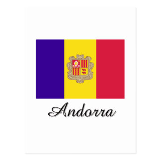 Andorra Flag Design Postcard