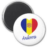 Andorra Flag Heart Fridge Magnet