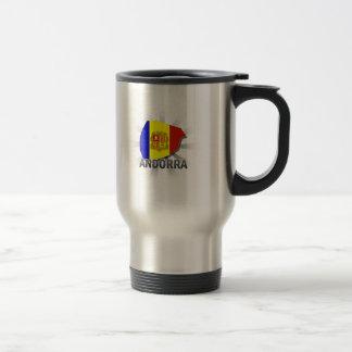 Andorra Flag Map 2.0 Mugs