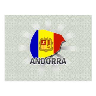 Andorra Flag Map 2.0 Postcard