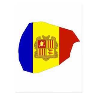 Andorra flag map postcard