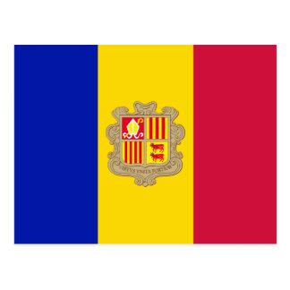 Andorra Flag Postcard