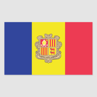 Andorra Flag Rectangular Sticker
