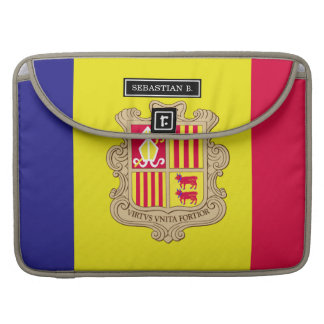 Andorra Flag Sleeve For MacBooks