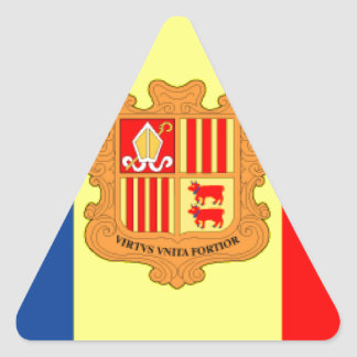 Andorra Flag Triangle Sticker