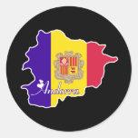 Andorra fresca etiquetas redondas