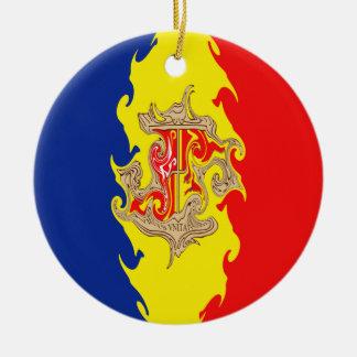 Andorra Gnarly Flag Ceramic Ornament